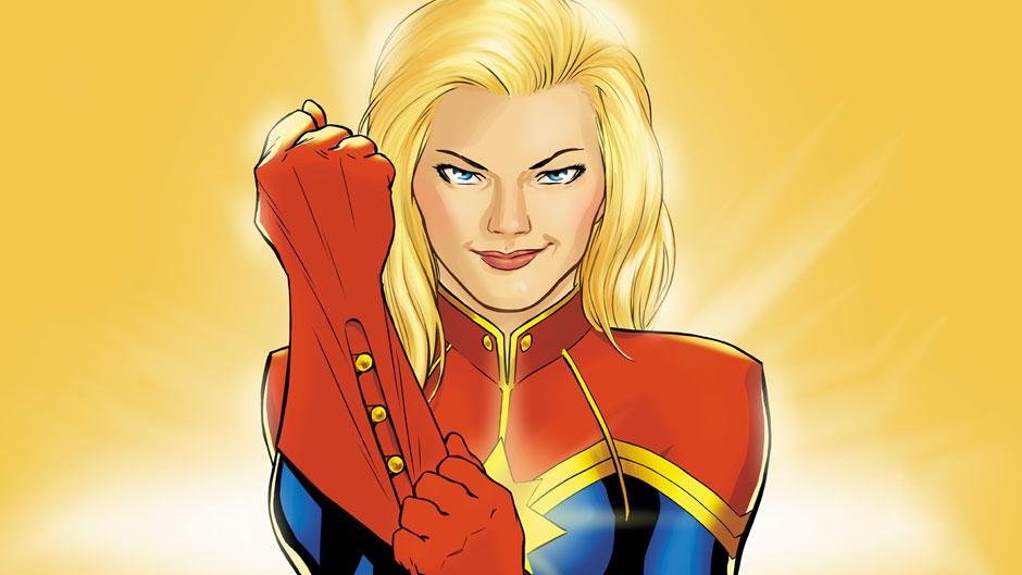 Captain Marvel, la versión del cómic. © Marvel Studios.