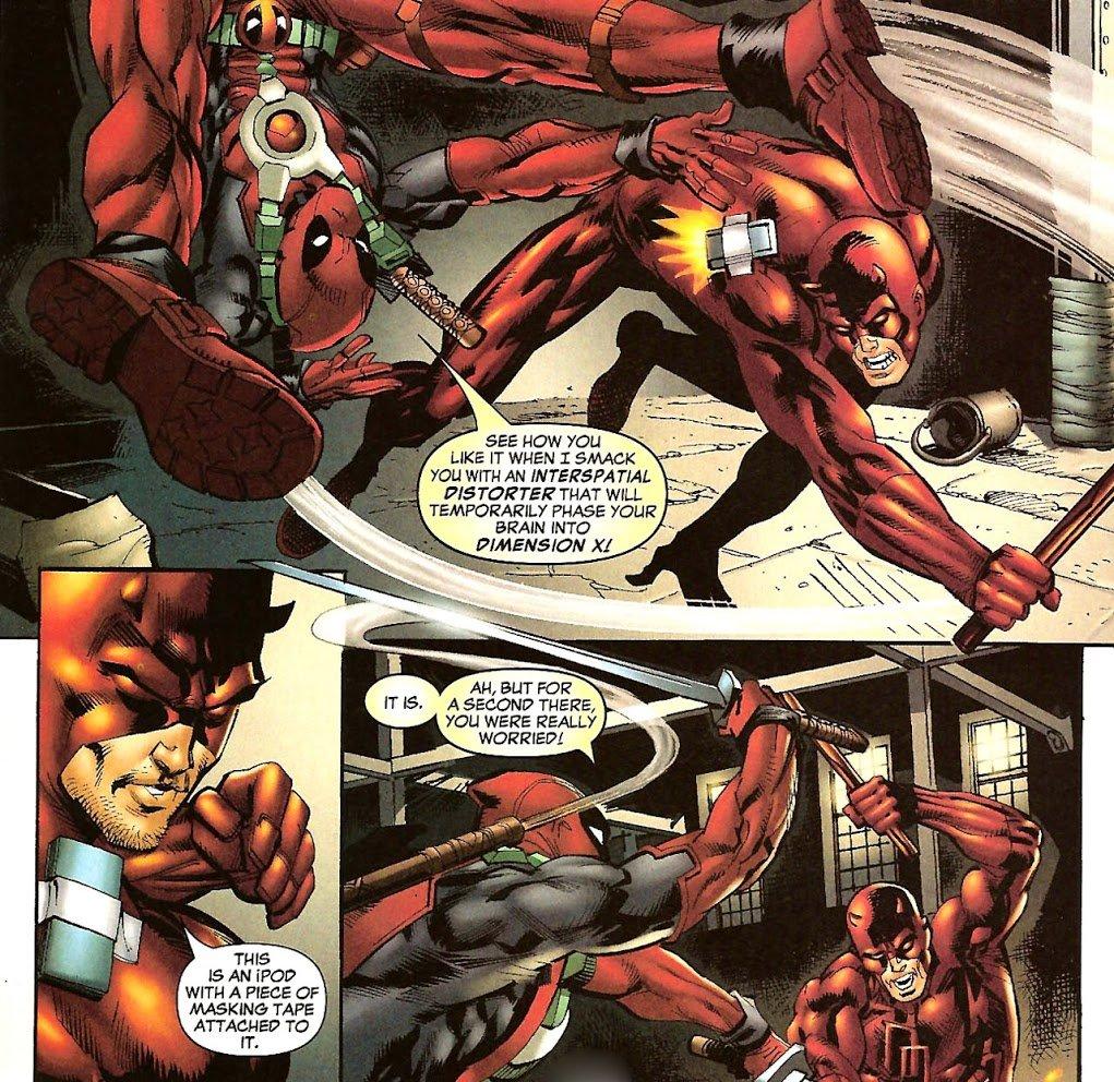 Deadpool vs Daredevil funny
