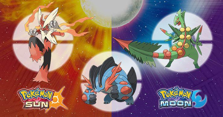 Hoenn megas sun moon POkemon
