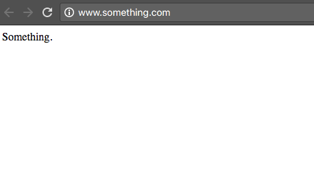 something.com