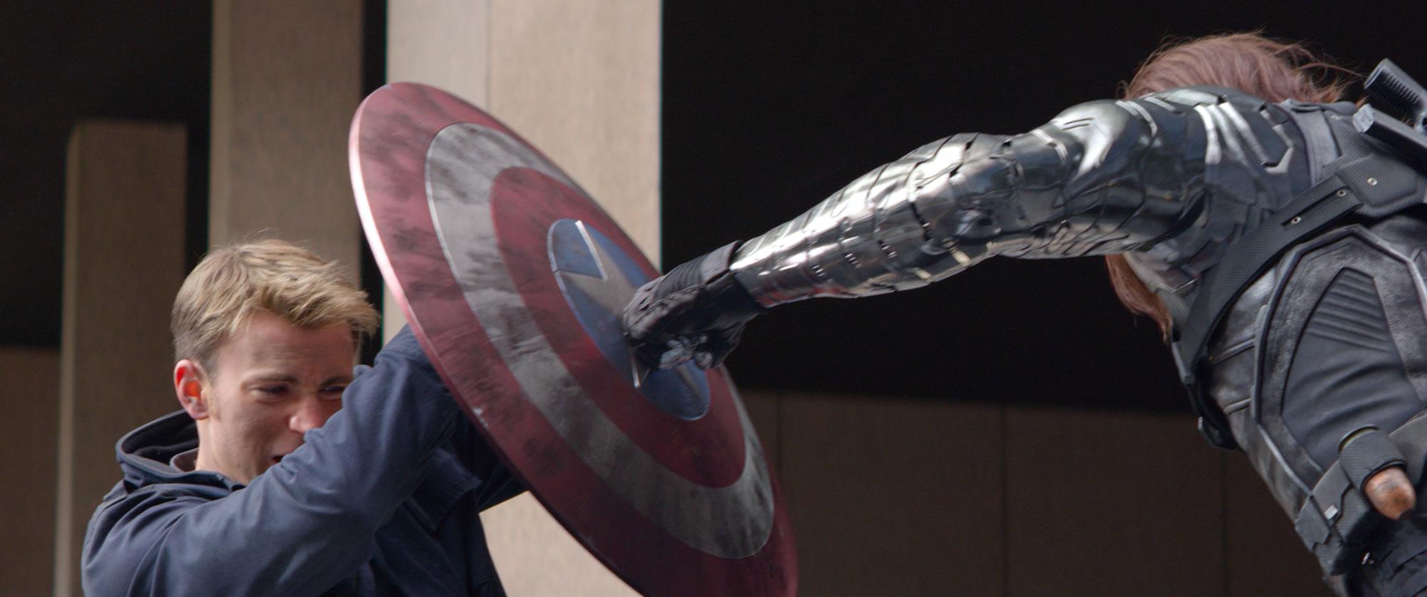captain america winter soldier chris evans shield punch