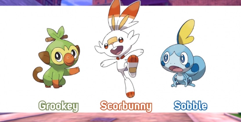 starters pokemon sword and shield